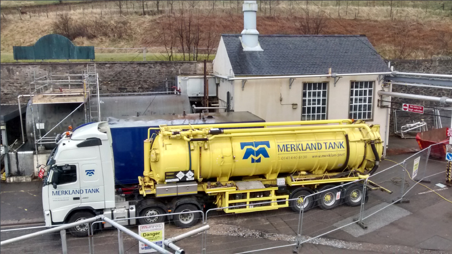 Cleaning and Removal of HFO Oil Storage Tank at a distillery.